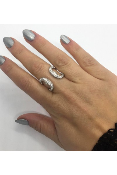 Stars By P - Heart Ring - Silver