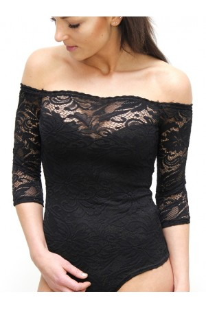 Elza Lace Body - Black