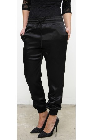 Nora Shiny Pants - Black