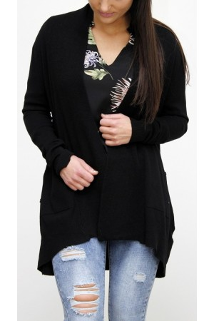 Elly Soft Cardigan - Black