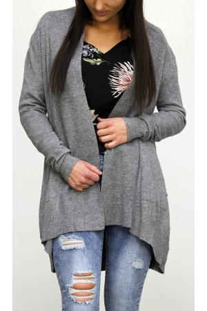 Elly Soft Cardigan - Grey