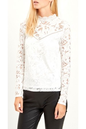 VILA - Vistasia L/S Lace Top - White