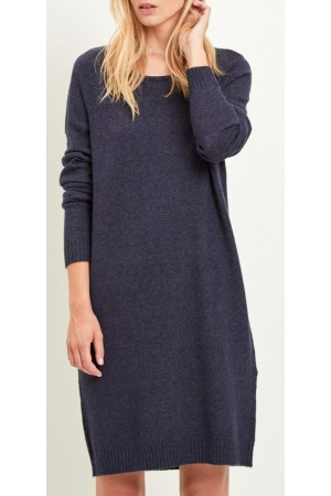 VILA - Viril L/S Knit Dress - Eclipse