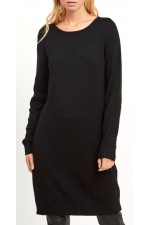 VILA - Viril L/S Knit Dress - Black