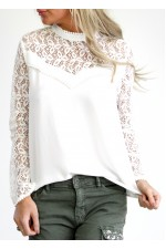 Jula Lace Shirt - White