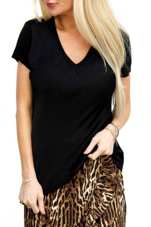 Cova Silk T-Shirt - Black