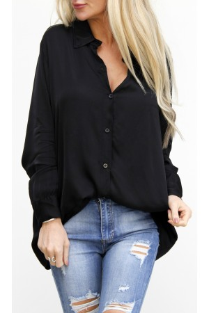 Limo Silk Shirt - Black