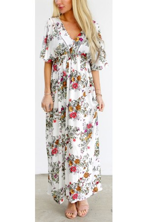 Flower Long Dress