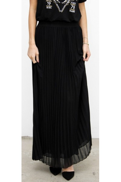 Malia Long Skirt - Black