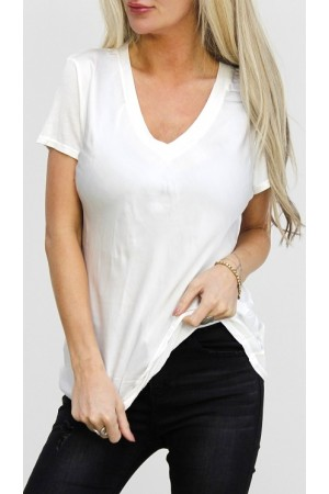 Cova Silk T-Shirt - White