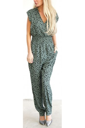 Loria Jumpsuit - Dusty Green