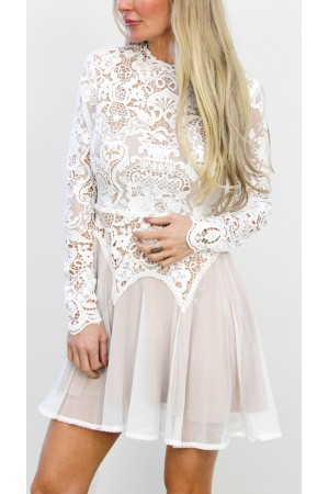 Alissia Lace Dress - White