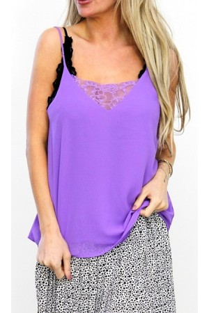 Monde Lace Top - Purple