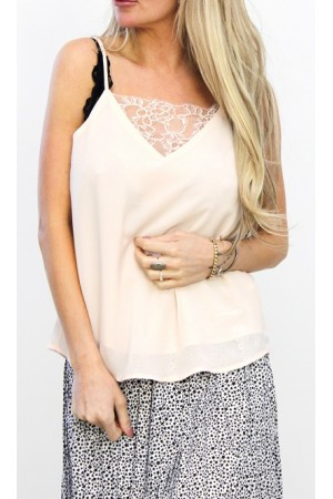 Monde Lace Top - Light Rose