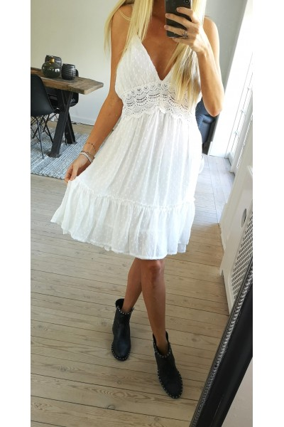 Selina Dress - White