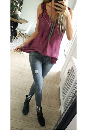 Maldi Beauty Top - Bordeaux