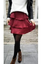 Yasma Skirt - Bordeaux