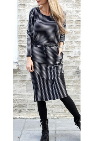 Liberte - Alma Long Sleeve Dress - Stripe