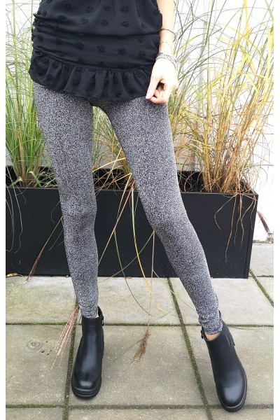 Cleo Shiny Leggings - Silver