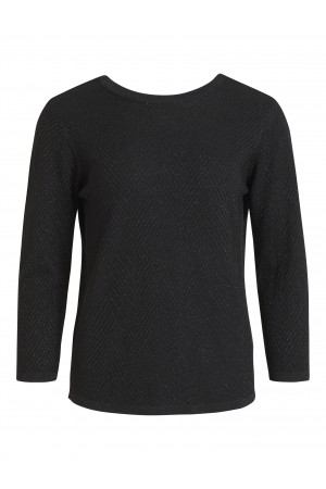 OBJECT - ObjLizzy 3/4 Knit Pullover - Black