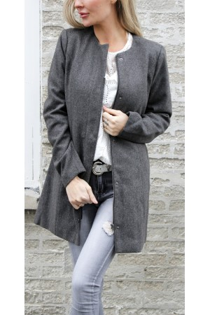 OBJECT - ObjNora Sandy Jacket - Dark Grey