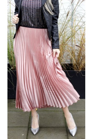 Foni Long Skirt - Rose
