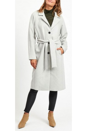 OBJECT - ObjLena Coat - Light Grey