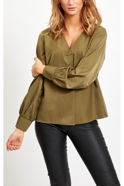 OBJECT - ObjEileen V-Neck Shirt - Burnt Olive