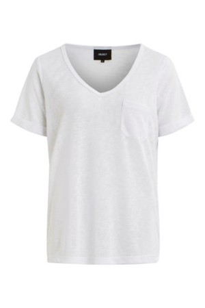 OBJECT - ObjTessi V-Neck - White