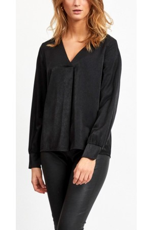 OBJECT - ObjEileen V-Neck Shirt - Black