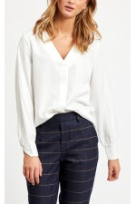 OBJECT - ObjEileen V-Neck Shirt - White