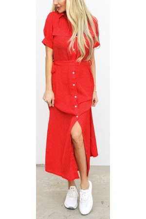 Dinja Dress - Red