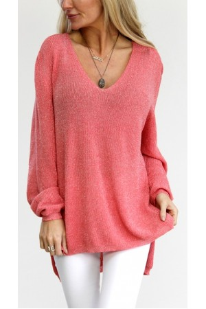 Camo Shiny Knit - Pink
