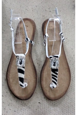 Zebra Beauty Sandals