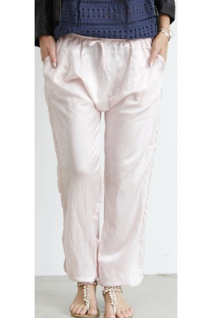 Tenna Silk Pants - Rose