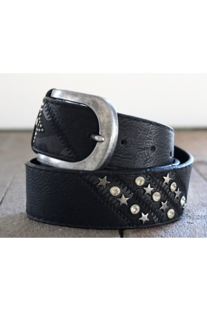 Camille Star Belt - Black