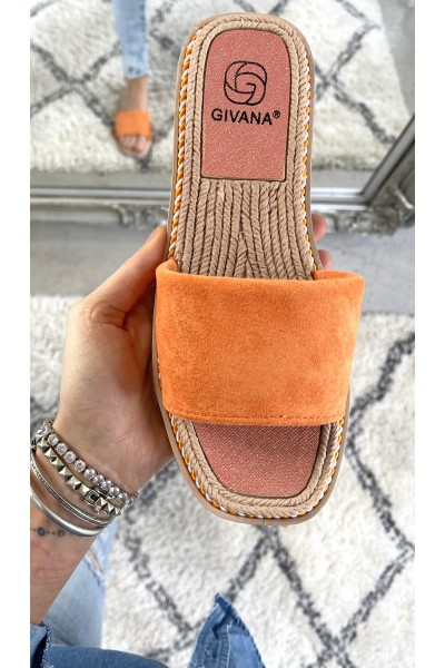 Silke Soft Sandal - Orange