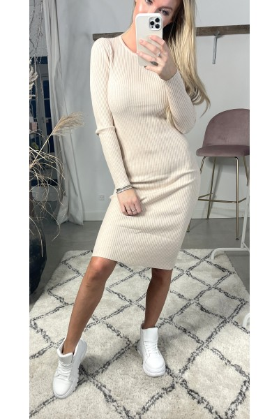 Martine Soft Dress - Beige