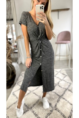 Bell Basic Dress - Grey