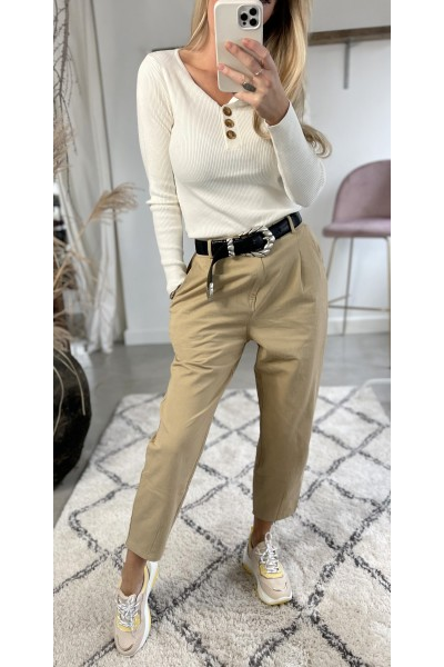 Jessi Cool Pants - Beige