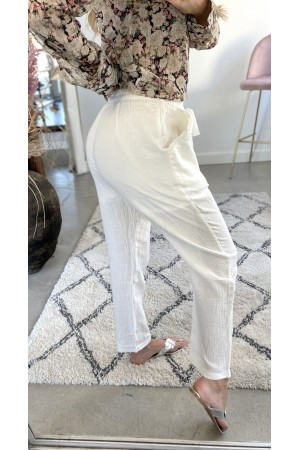 Vivi Loose Pants - White