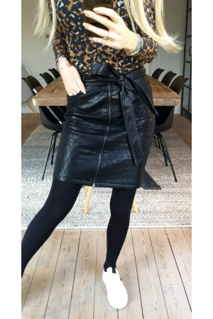 Iroa Leather Skirt