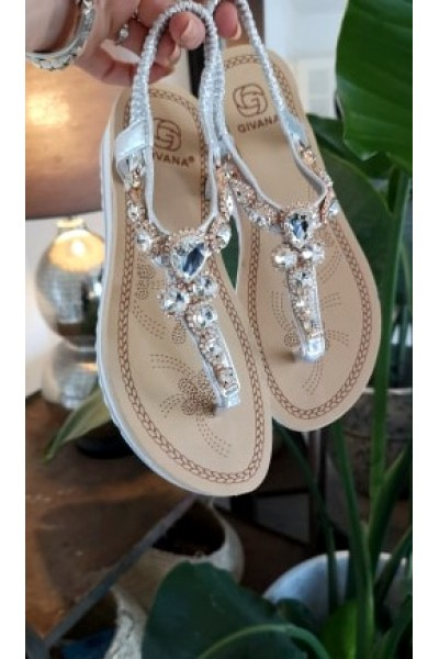 Sofia Beauty Sandals - Silver