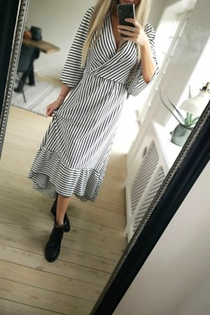 Simona Stripe Dress