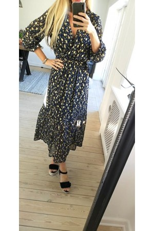 Rosa Long Dress - Navy