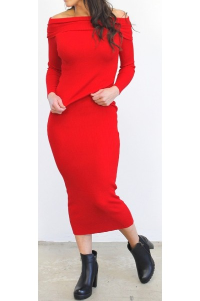 Raki Soft Dress - Red