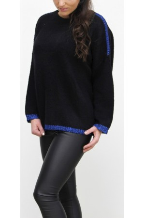 Siwau Knit - Black/Blue