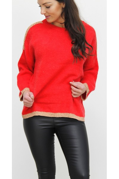 Siwau Knit - Red/Gold