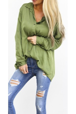 Limo Silk Shirt - Green