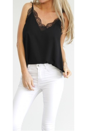 Joy Lace Top - Black